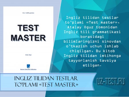 Ingliz tilidan testlar TEST MASTER