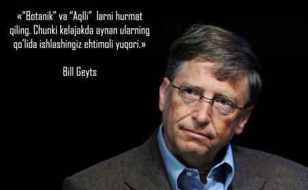 Abiturient va yuqori sinf o'quvchilari uchun Bill Geyts (англ. Bill Gates) tomonidan 8qoida.